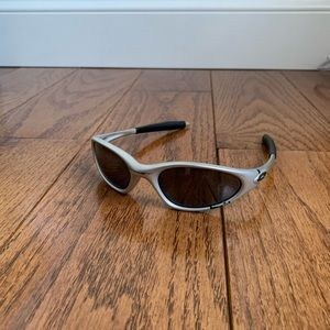 Used Oakley Minute 1.0 Silver Sunglasses- NO CASE!